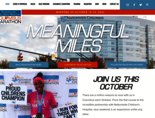 columbusmarathon.com screenshot