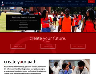 columbusstate.edu screenshot