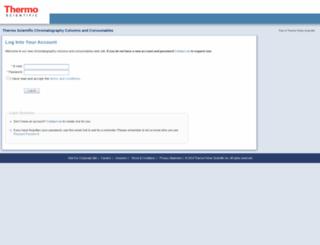 columnaccess.thermofisher.com screenshot