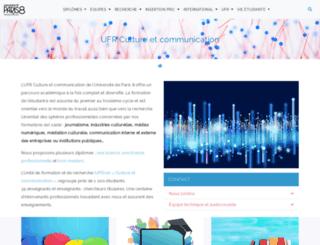 com-media.univ-paris8.fr screenshot