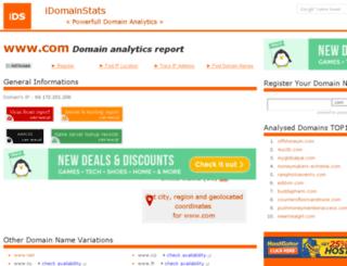 com.idomainstats.com screenshot