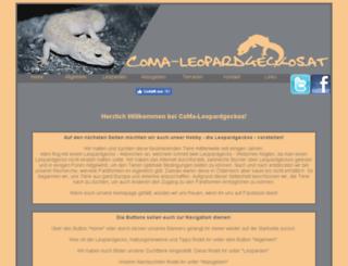 coma-leopardgeckos.at screenshot