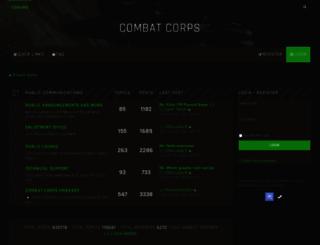 combatcorps.com screenshot
