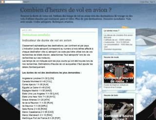 combiendheuresdevol.blogspot.com screenshot