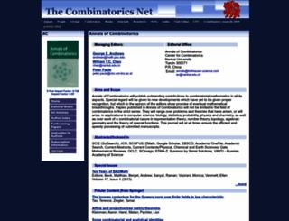 combinatorics.net screenshot