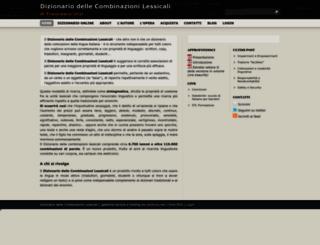combinazioni-lessicali.com screenshot