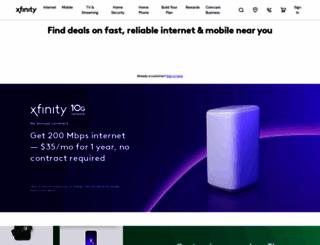 comcast.com screenshot