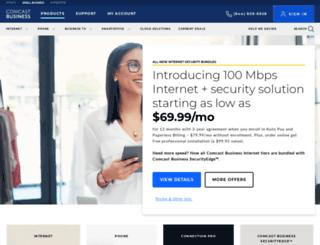 comcastbusinessservices.com screenshot