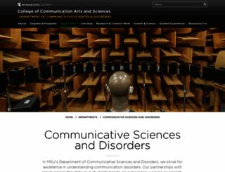comdis.msu.edu screenshot