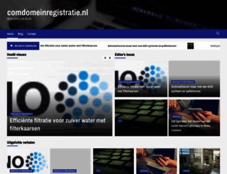 comdomeinregistratie.nl screenshot