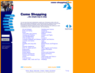 come-shopping.co.uk screenshot