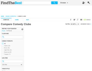 comedy-club.findthebest.com screenshot