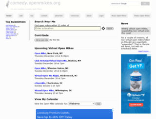comedy.openmikes.org screenshot