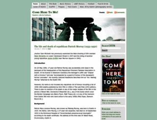 comeheretome.wordpress.com screenshot