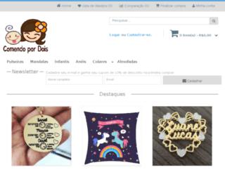 comendopordois.com.br screenshot