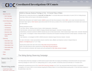 cometcampaign.org screenshot
