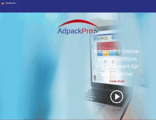 cometo.adpackpro.com screenshot