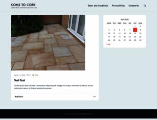 cometocork.ie screenshot