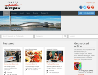 cometoglasgow.com screenshot
