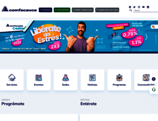 comfacauca.com screenshot