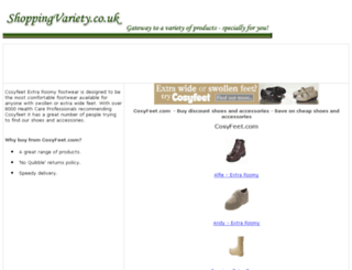comfortable-footwear-shoes.shoppingvariety.co.uk screenshot