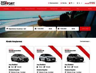 comfortcarrental.com screenshot