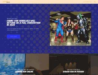 comicconhonolulu.com screenshot