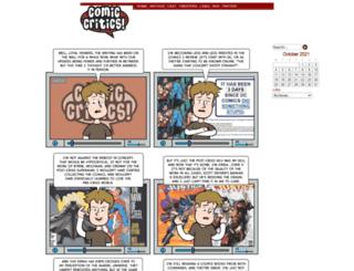 comiccritics.com screenshot