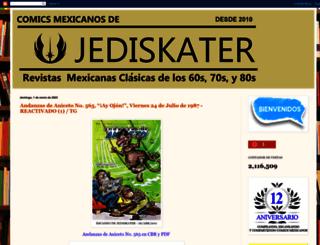 comicsmexicanosdejediskater.blogspot.mx screenshot