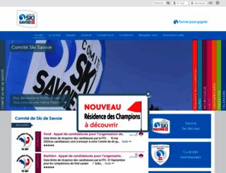 comite-ski-savoie.fr screenshot