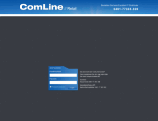 comlineshop3.ezentrum.de screenshot