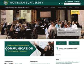 comm.wayne.edu screenshot