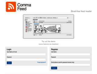 commafeed.com screenshot