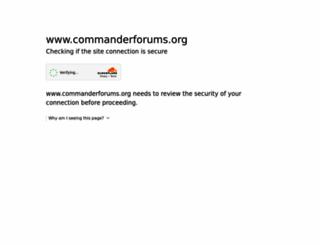 commanderforums.org screenshot