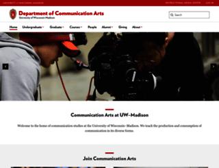 commarts.wisc.edu screenshot