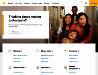 commbank.com.au screenshot