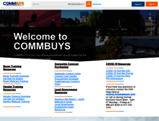 commbuys.com screenshot
