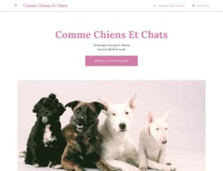 commechiensetchats.com screenshot