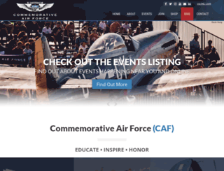 commemorativeairforce.org screenshot