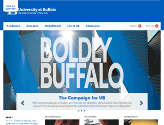 commencement.buffalo.edu screenshot