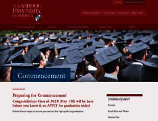 commencement.cua.edu screenshot