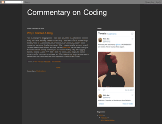 commentaryoncoding.blogspot.ie screenshot