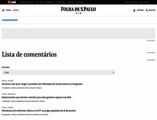 comments.folha.com.br screenshot