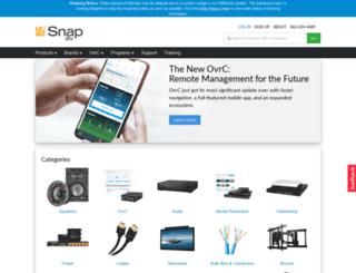 commercial.snapav.com screenshot