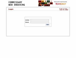 commissary.maxschicken.com.ph screenshot