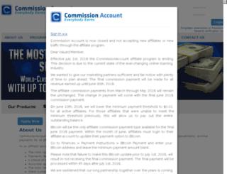 commissionaccount.com screenshot