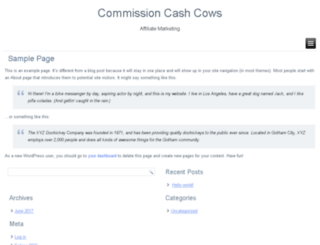 commissioncashcows.com screenshot