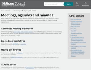 committees.oldham.gov.uk screenshot