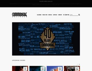 commodoreballroom.ca screenshot