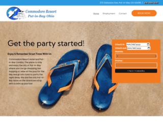 commodoreresort.com screenshot